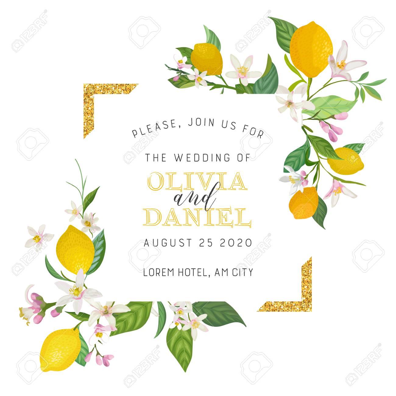 Set Of Botanical Wedding Invitation Card Vintage Save The Date