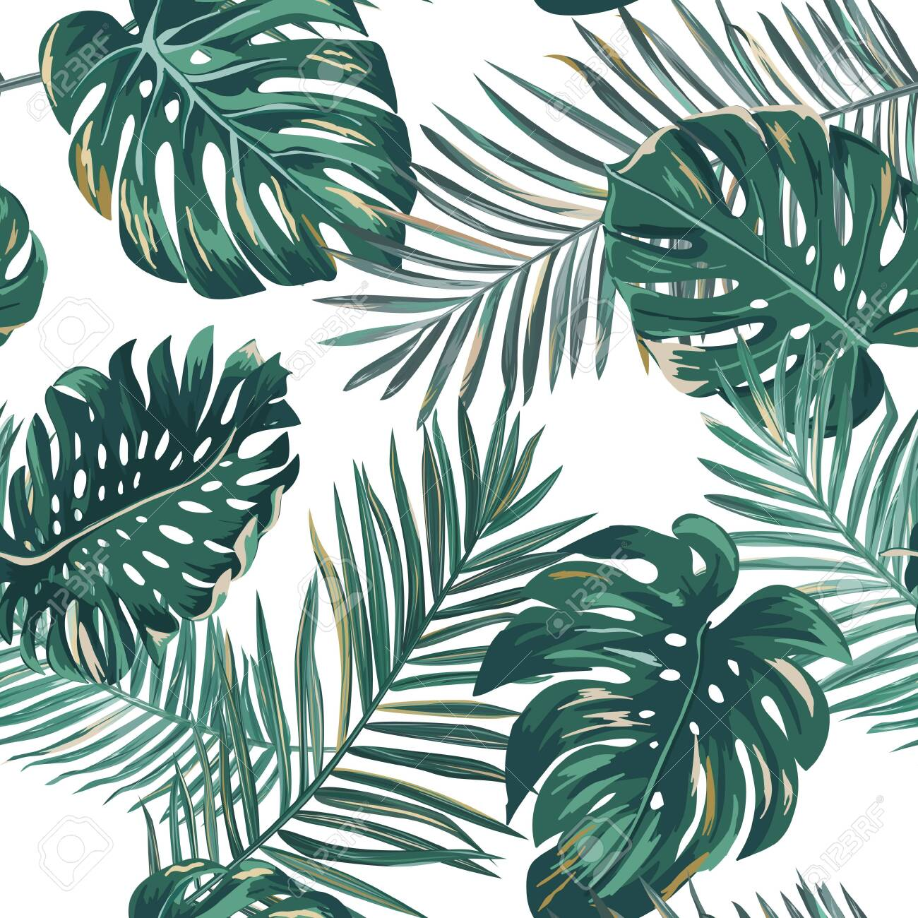 Retro Palm Leaves Background Pattern Tropical Jungle Illustration Royalty Free Cliparts Vectors And Stock Illustration Image 124024487 Limited time sale easy return. retro palm leaves background pattern tropical jungle illustration