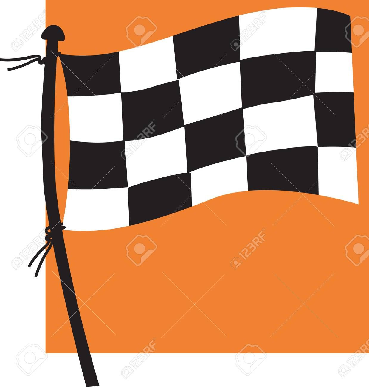 Sports flag Stock Vector - 1675278