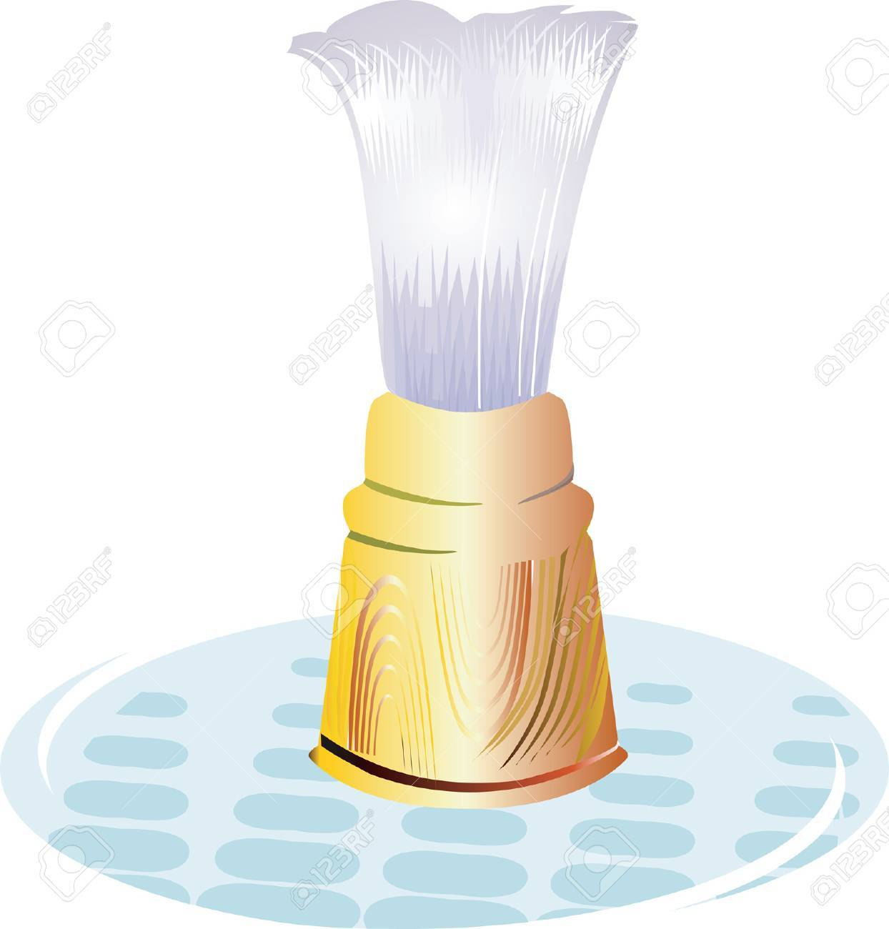Shaving Brush on a glass plate. Stock Vector - 1702524