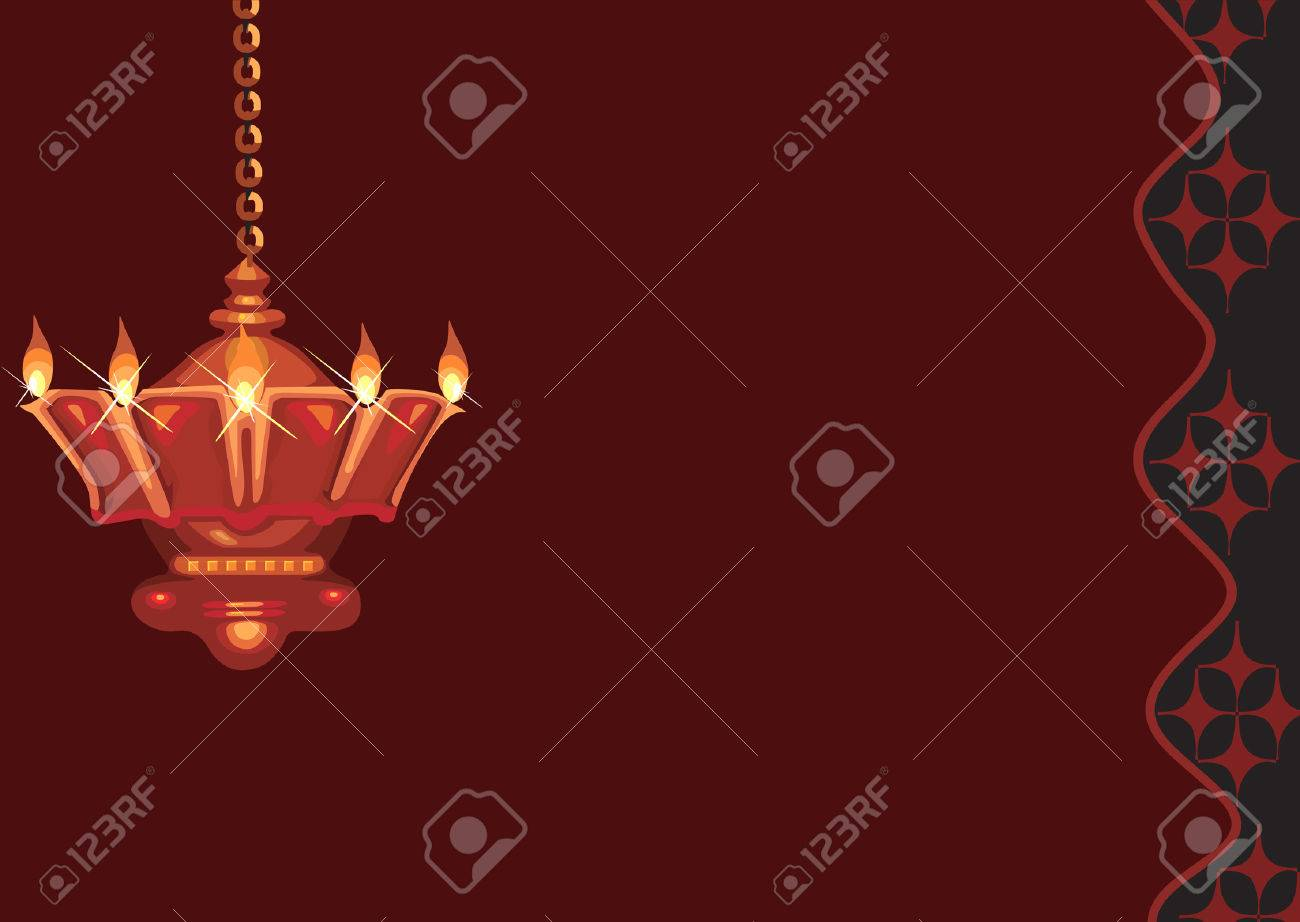 Hanging oil lamp found in Hindu temple - 1727870