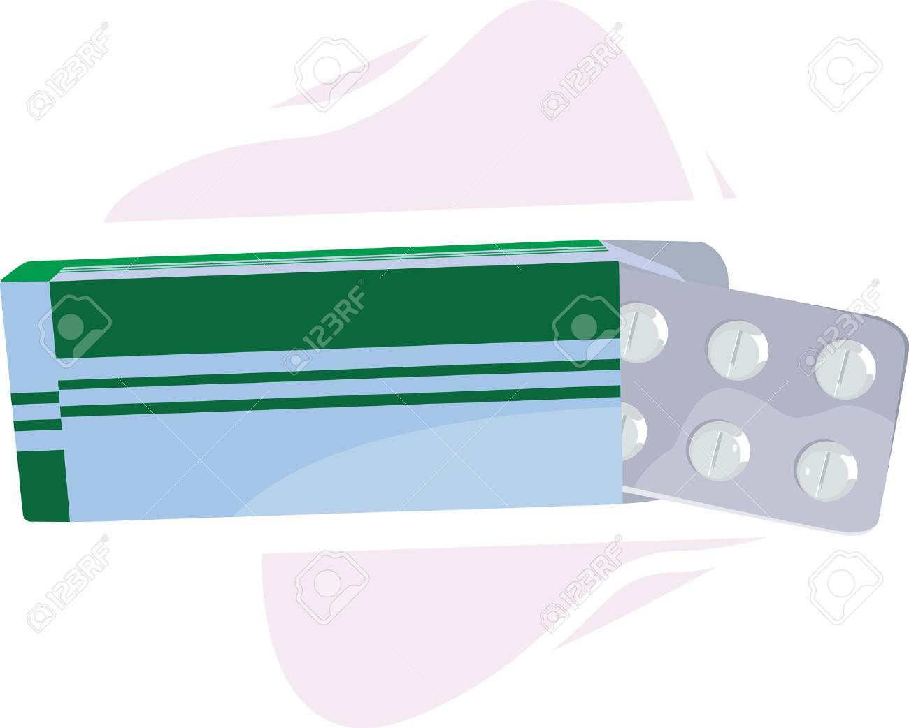 Pills with it�s a blue-green cover Stock Vector - 1730108