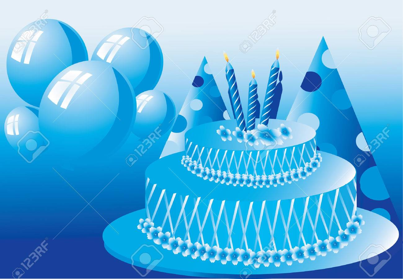 Birthday cake with candles on top Stock Vector - 1735484