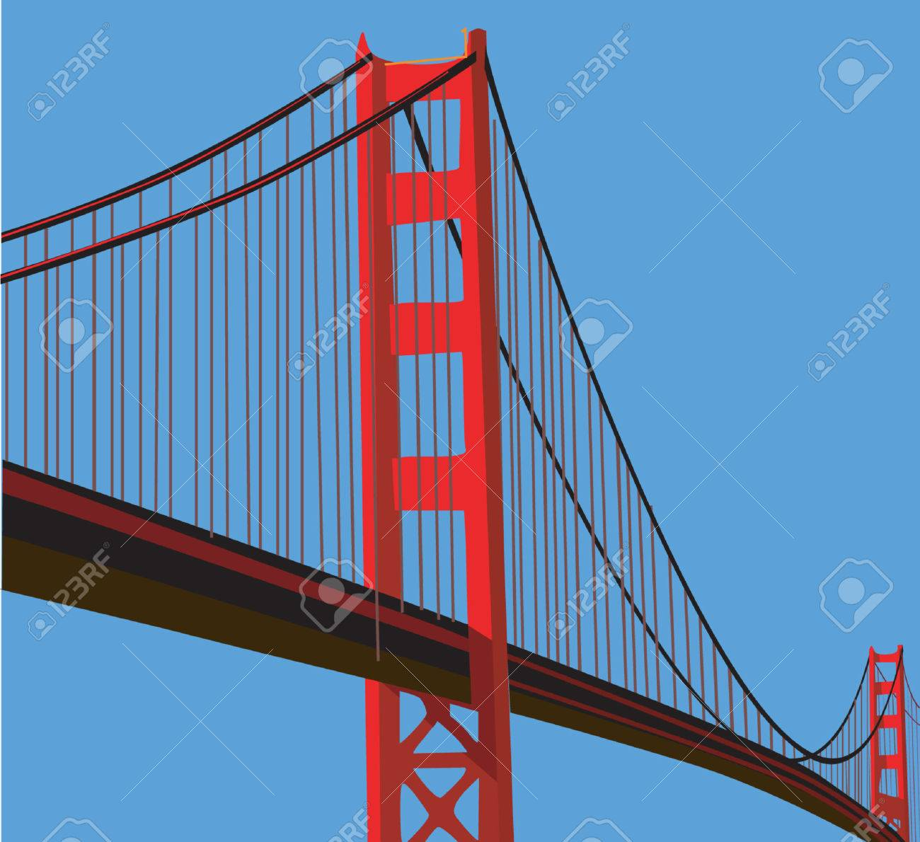 Golden Gate Bridge Stock Vector - 1768194