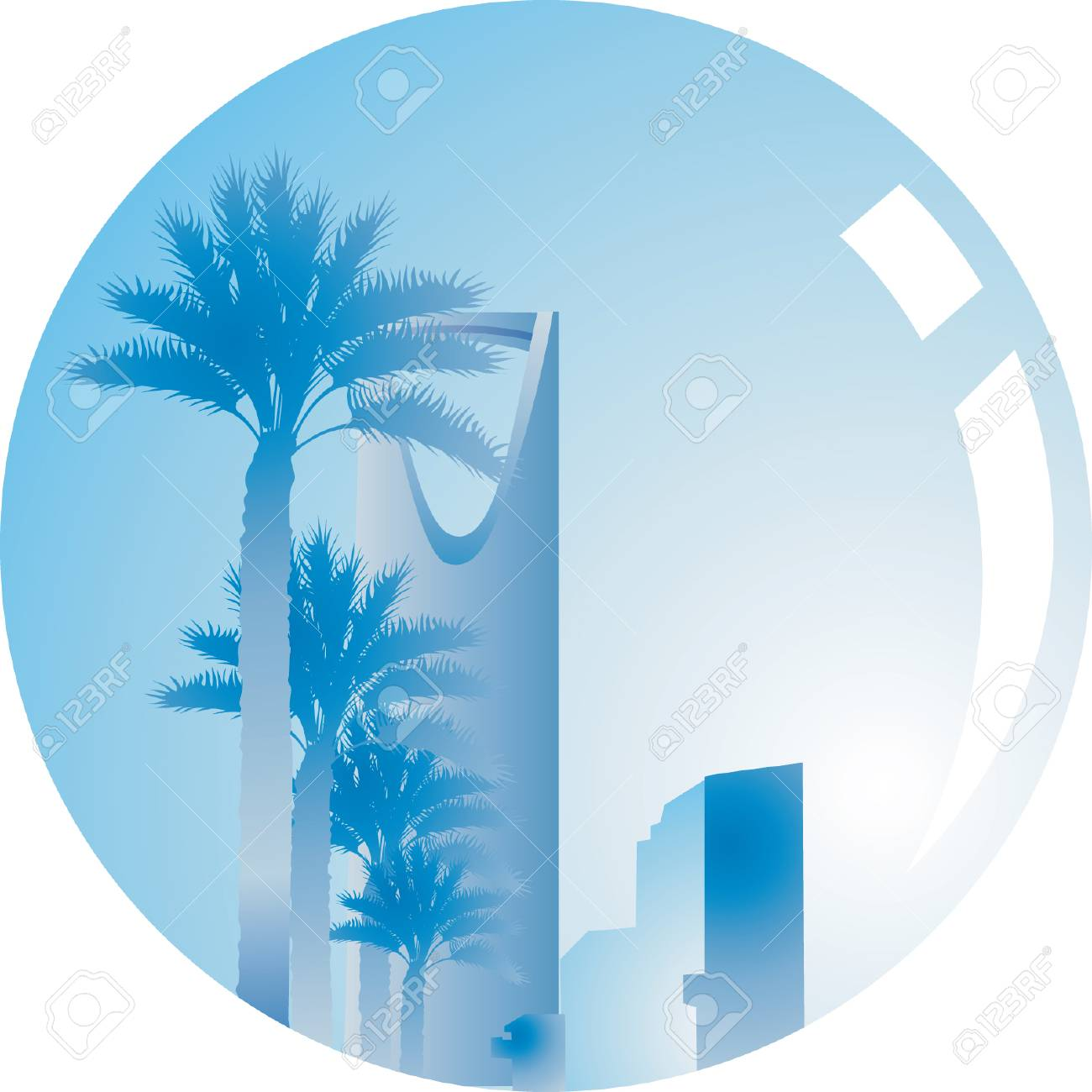Image of building reflected on Lens Stock Vector - 1768579