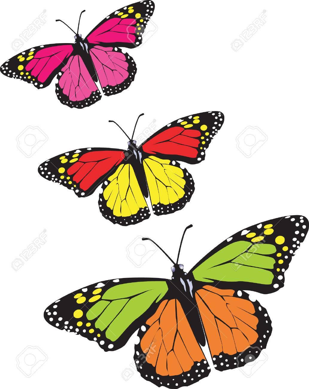 Butterflies  flying in the sky. Stock Vector - 1768543