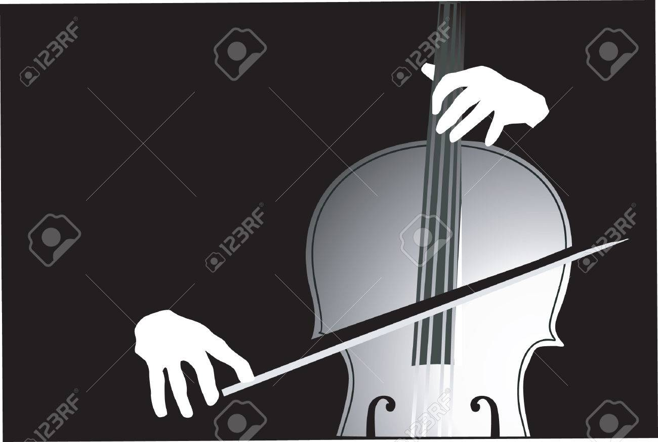 A violinist playing violin. Stock Vector - 1768358