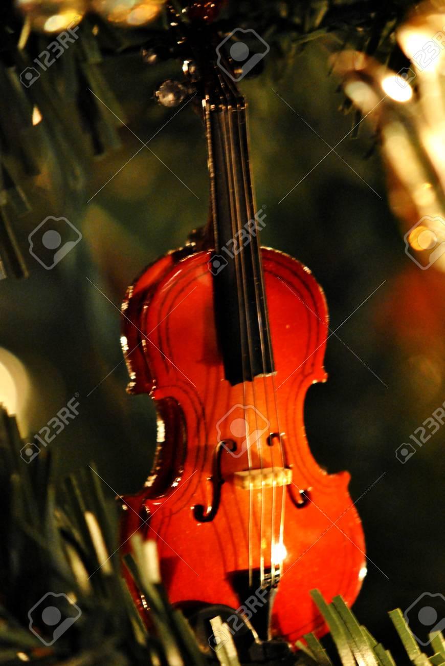 Christmas Violin.Miniature Violin Christmas Ornament
