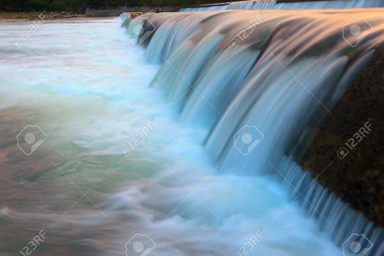 Abstract flowing water from a dam Stock Photo - 17529145