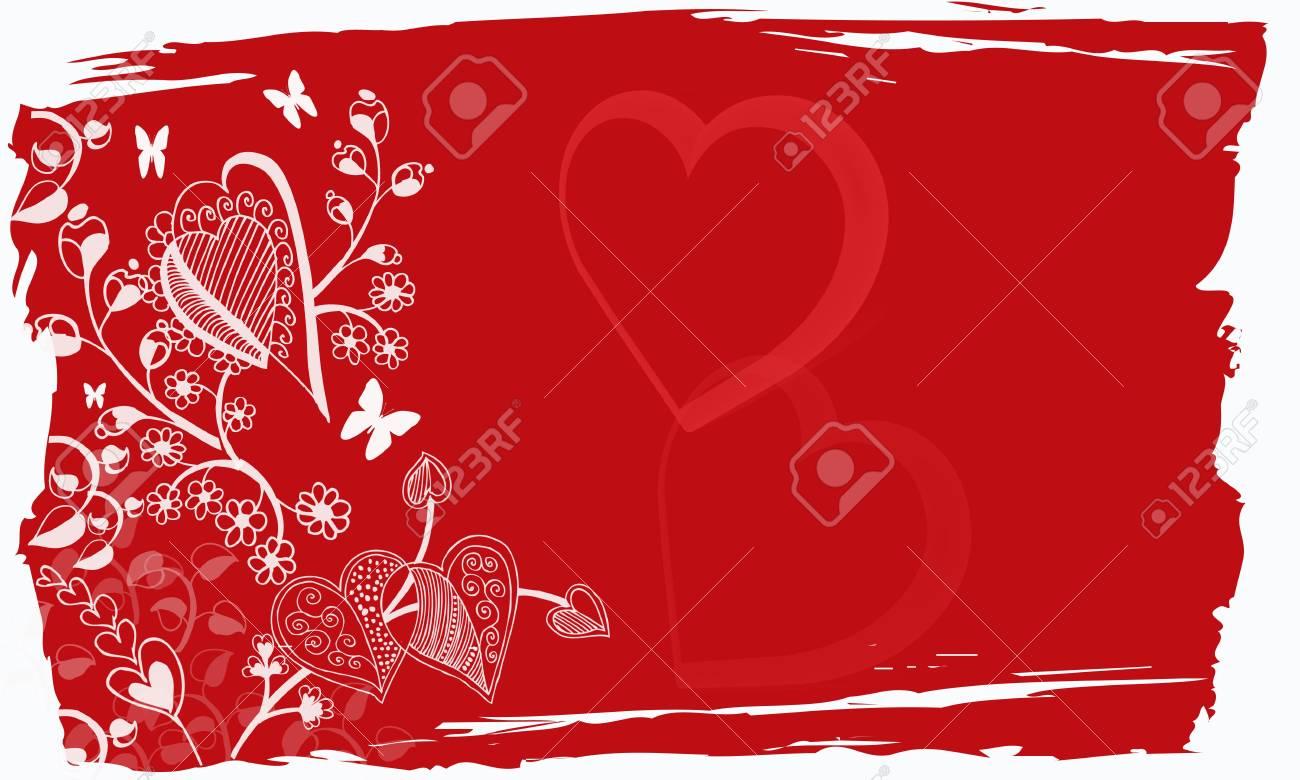 valentine grunge background Stock Photo - 6144123