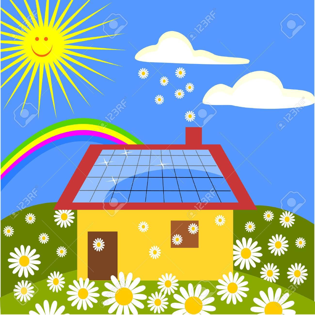 panel solar Stock Vector - 6122888