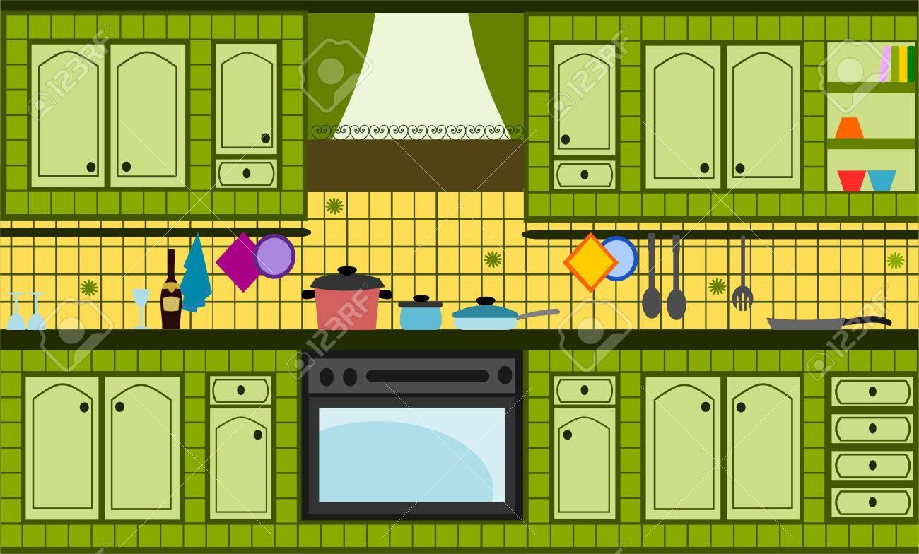 green kitchen Stock Vector - 6305823