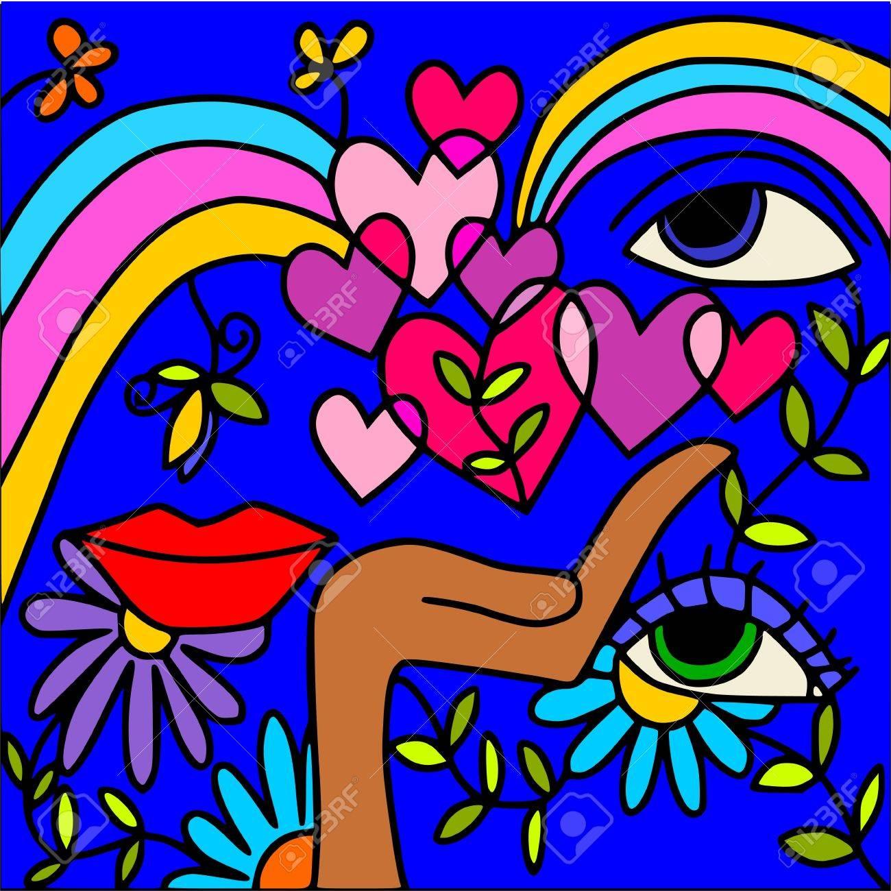 rainbow love Stock Vector - 10036846