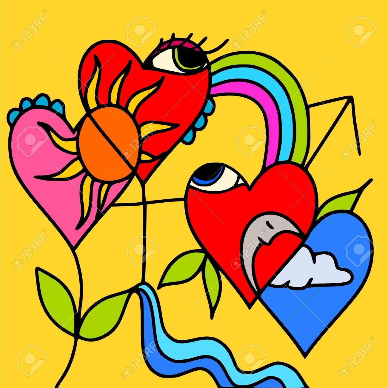 symbols of love Stock Vector - 10191785