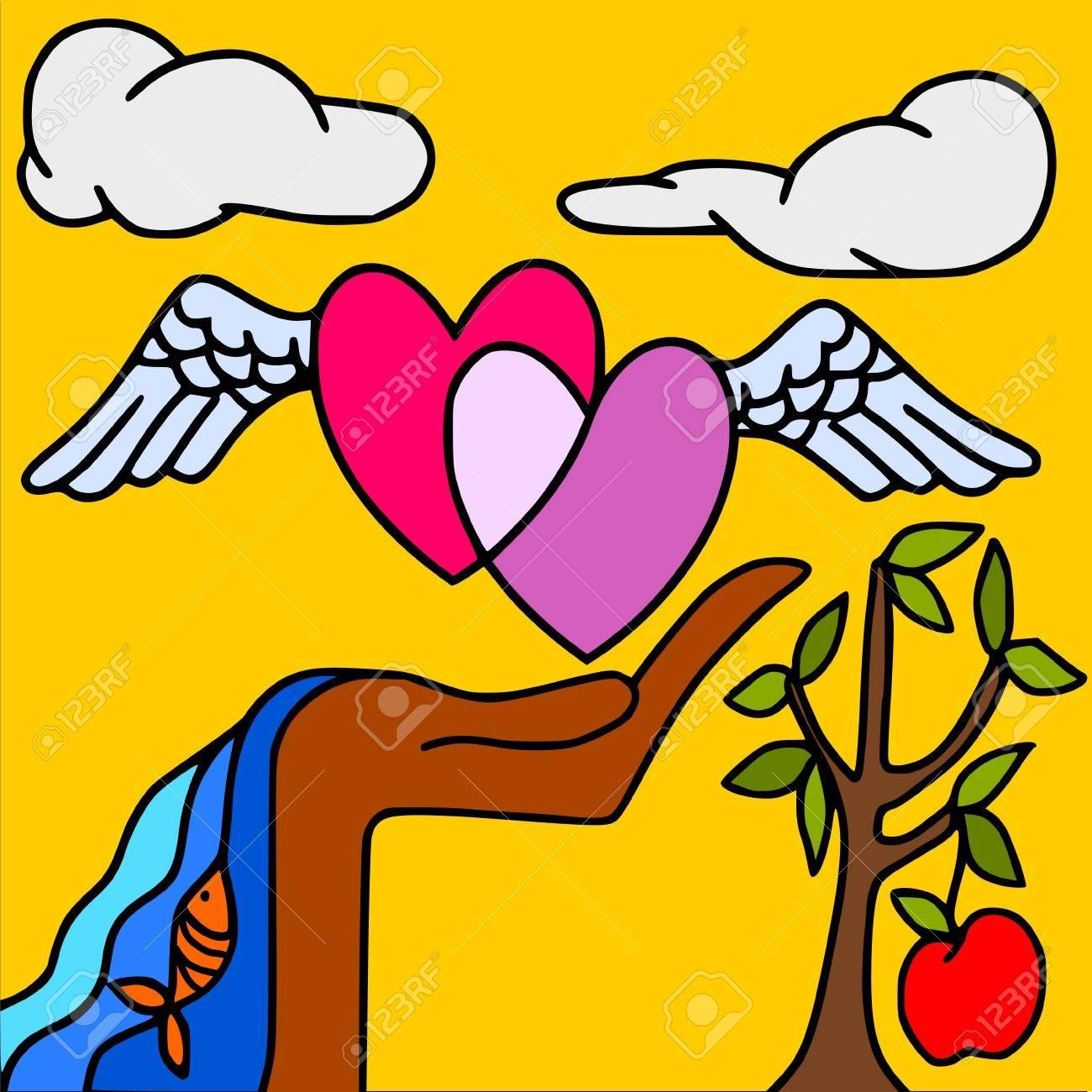 symbols of love Stock Vector - 10191819