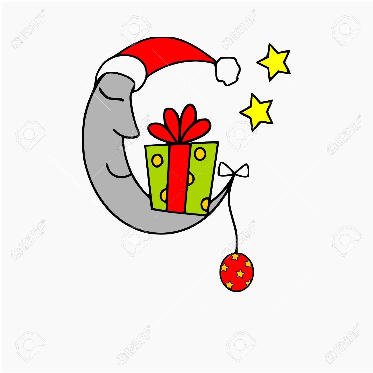 christmas moon Stock Vector - 10277982