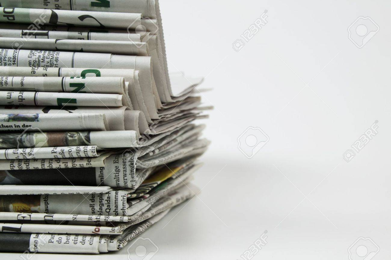 pile of newspaper - 10054021