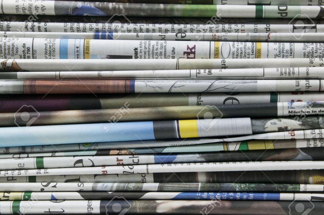 pile of newspaper - 10054125