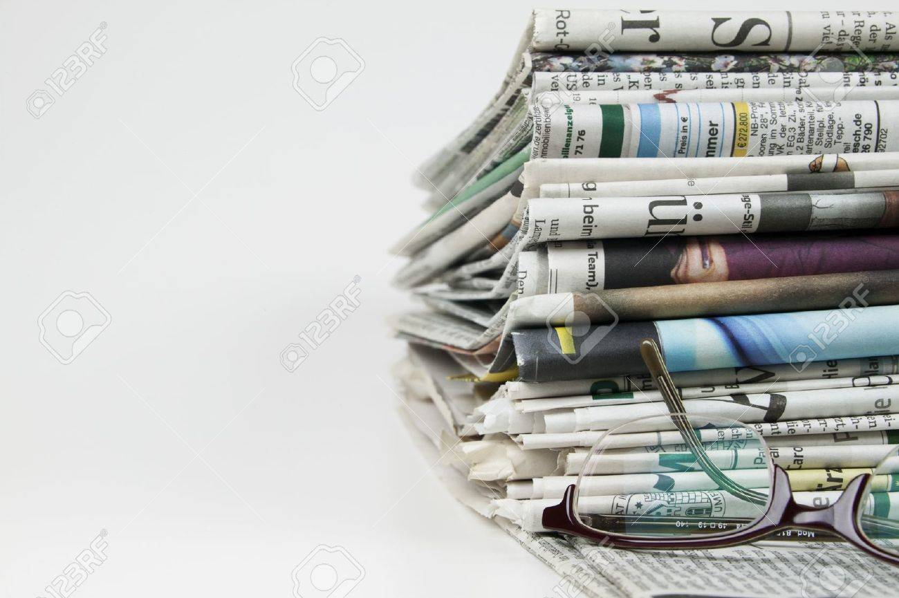 Pile Of Newspaper Stock Photo, Picture And Royalty Free Image ...