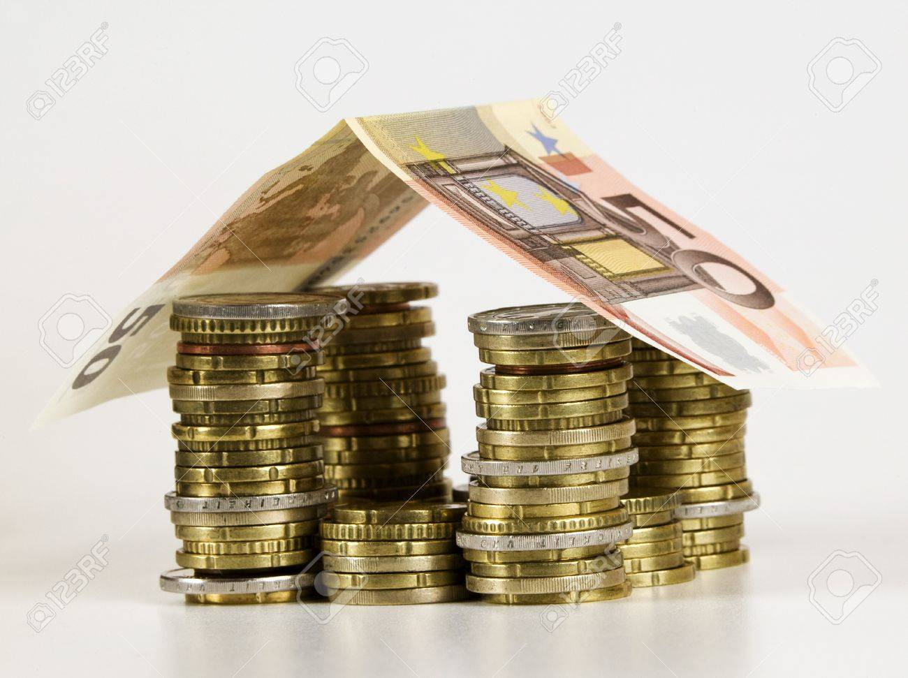 house built out of euros Stock Photo - 10794606