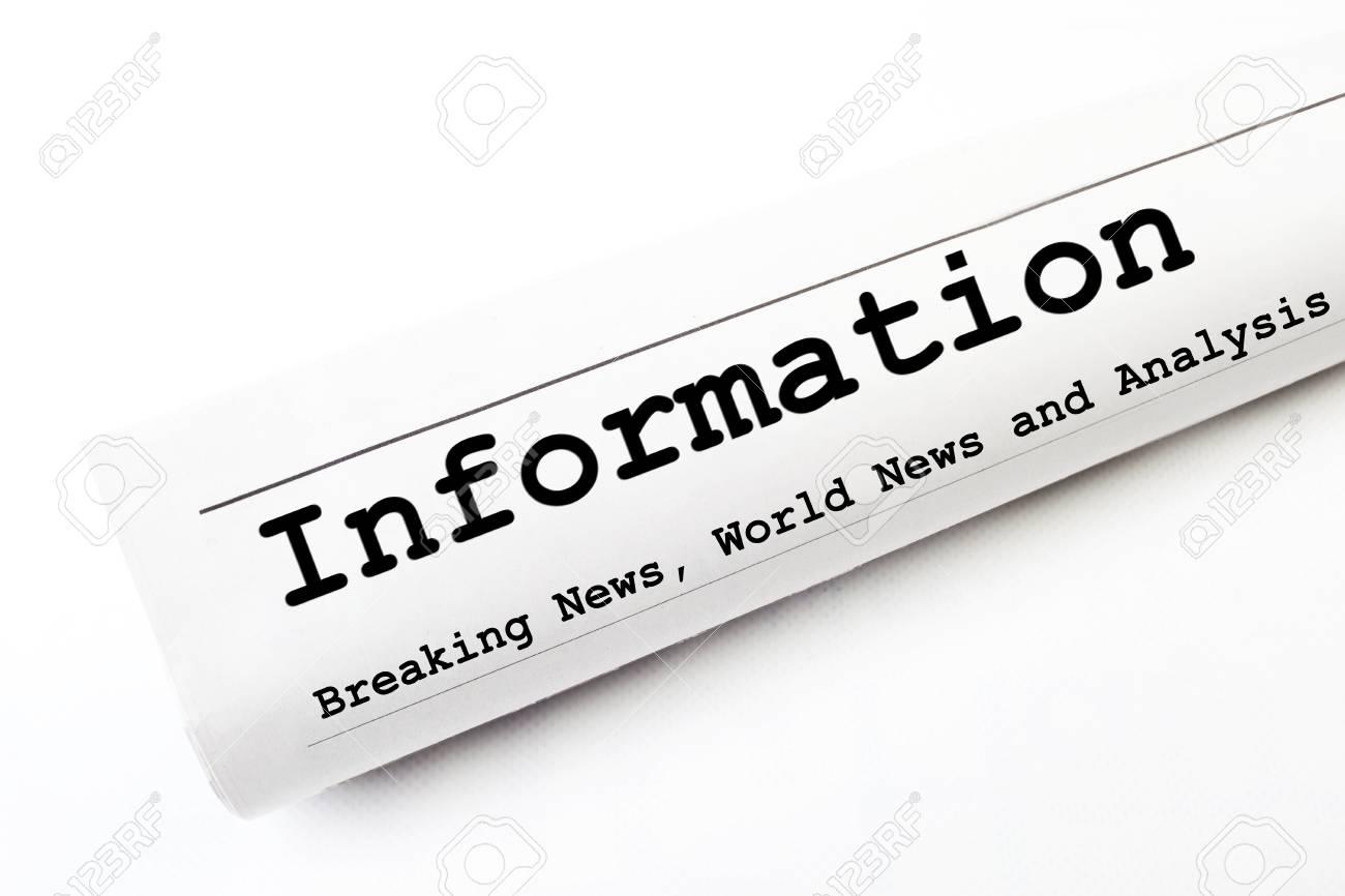Information newspaper Stock Photo - 16829601