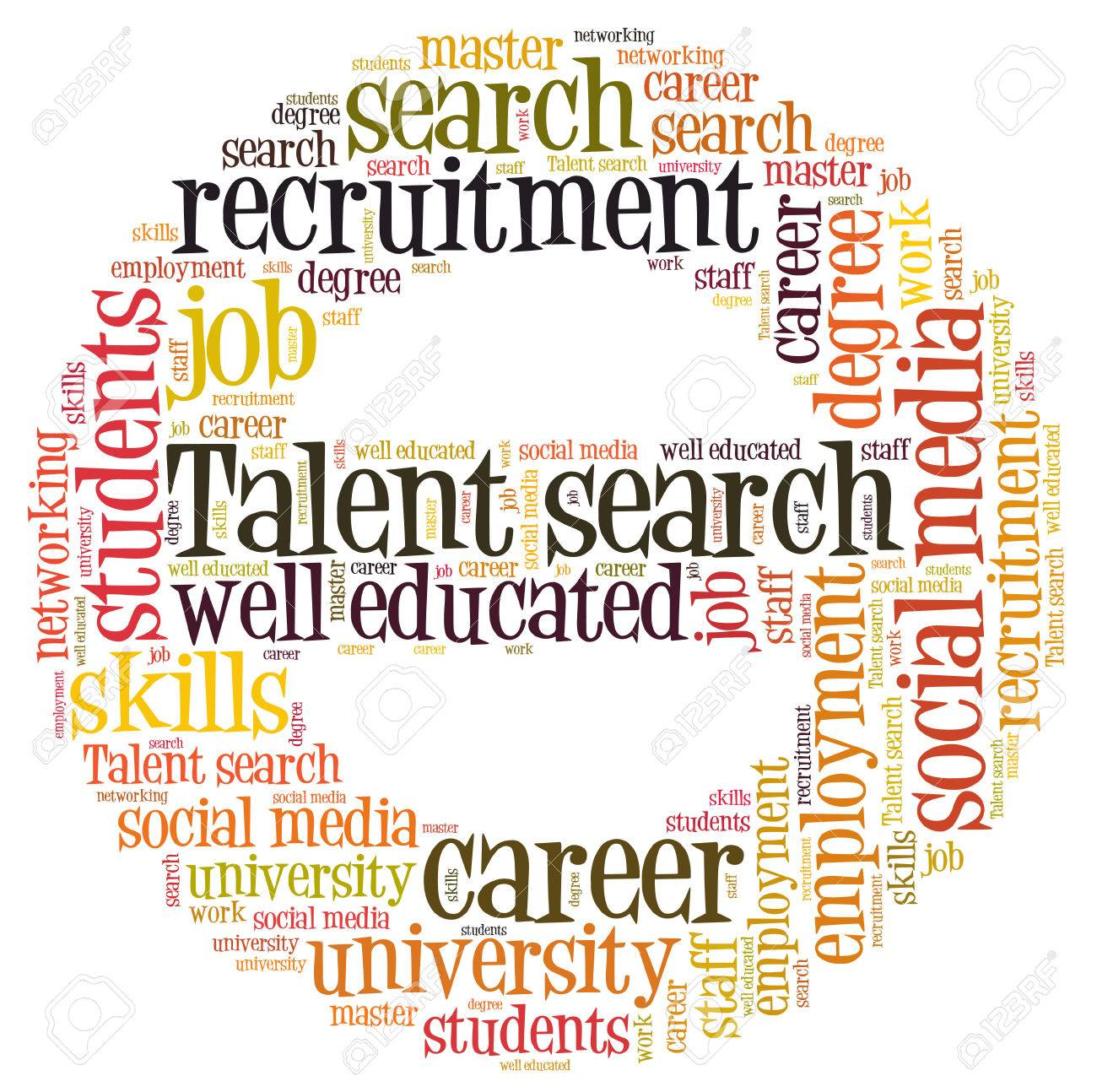 stock photo talent search word cloud