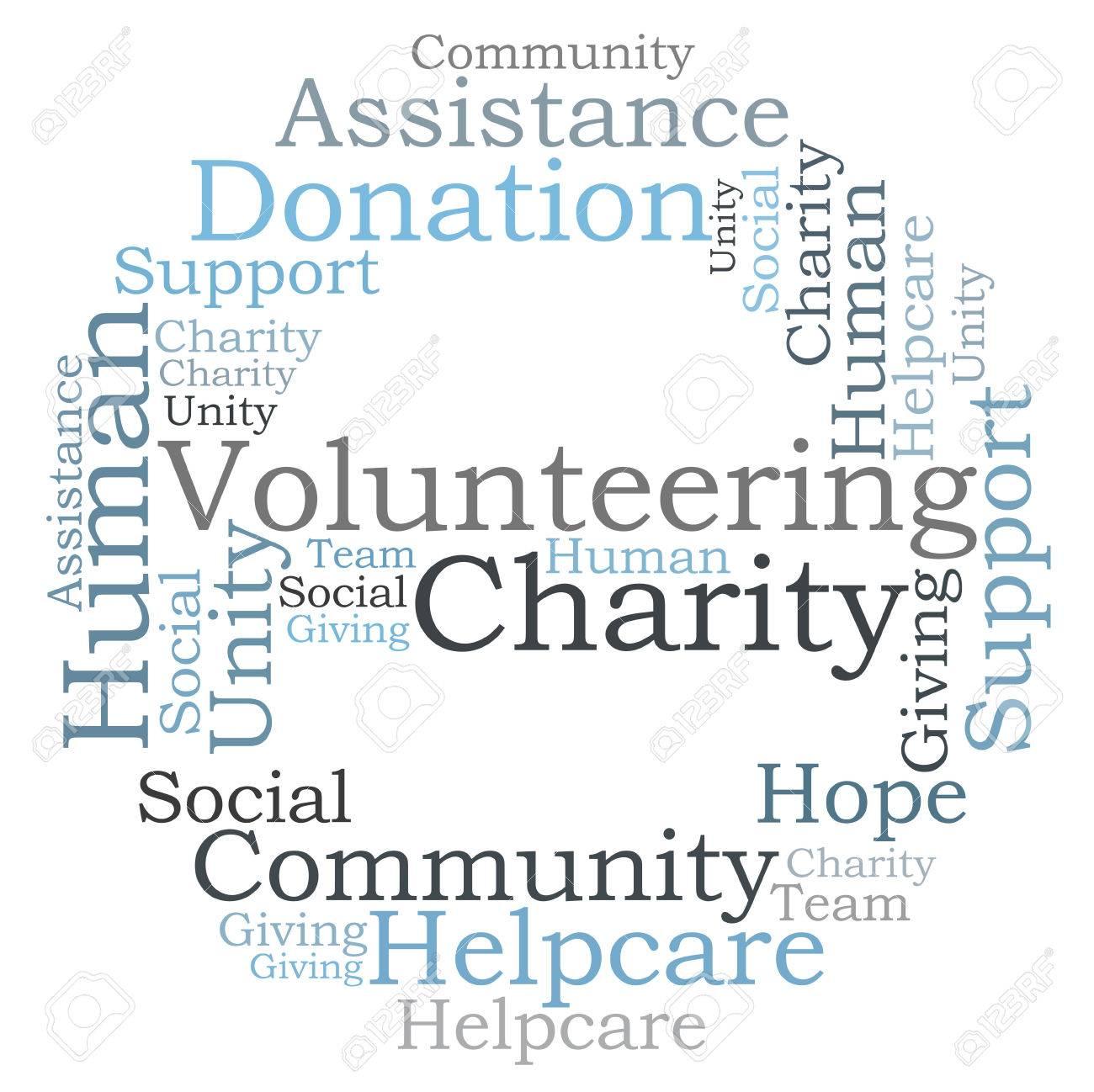 Volunteering Charity word cloud - 26351455