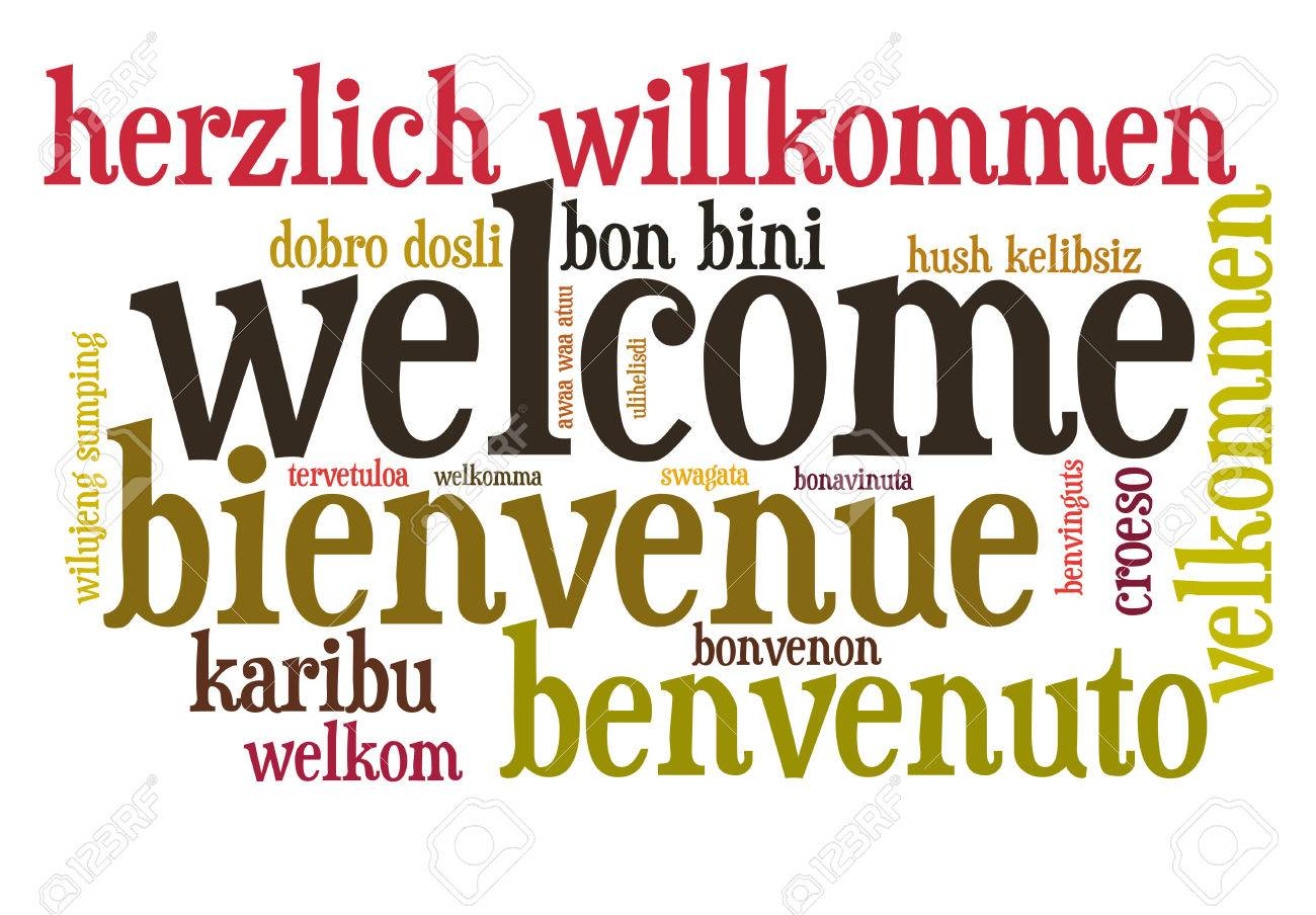 Welcome in different languages word cloud - 26368558