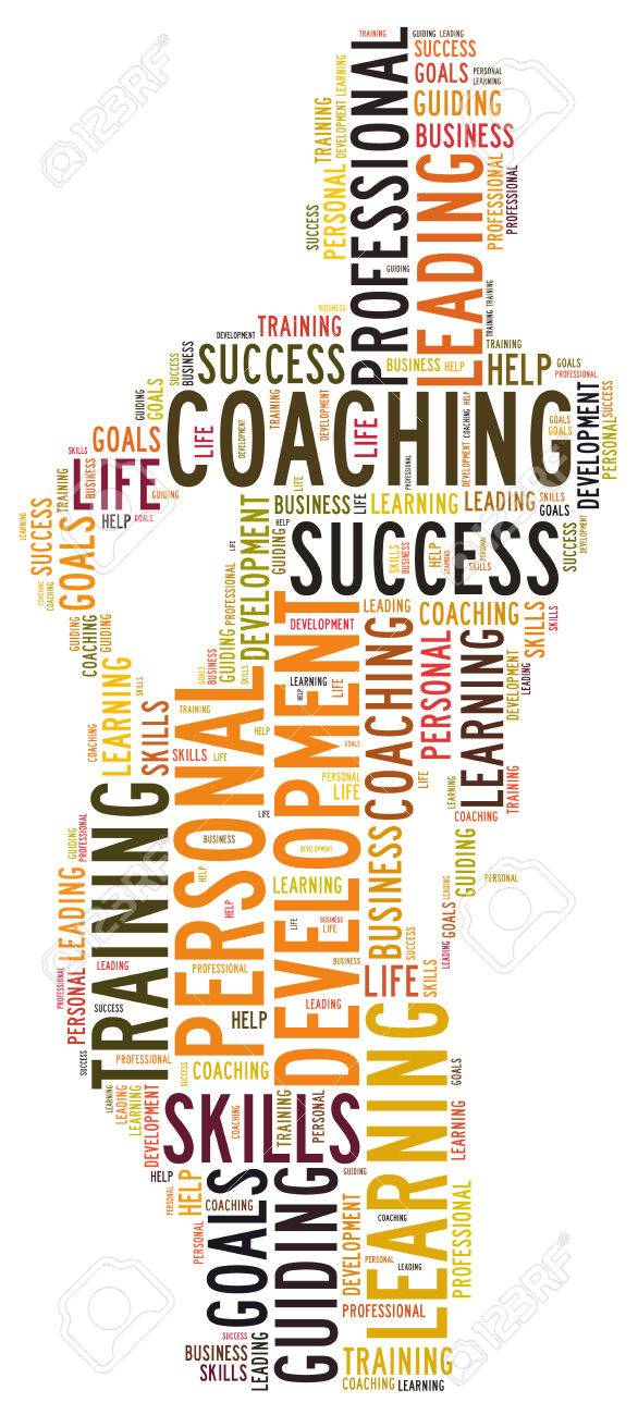 coaching words stock photo, picture and royalty free image. image