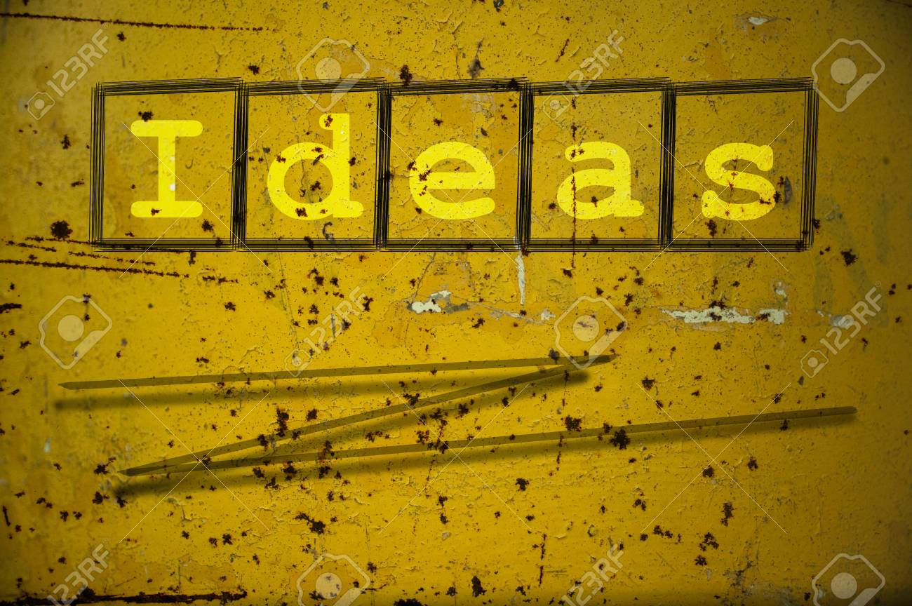Ideas Written On A Wall Background Stock Photo, Picture And Royalty ...