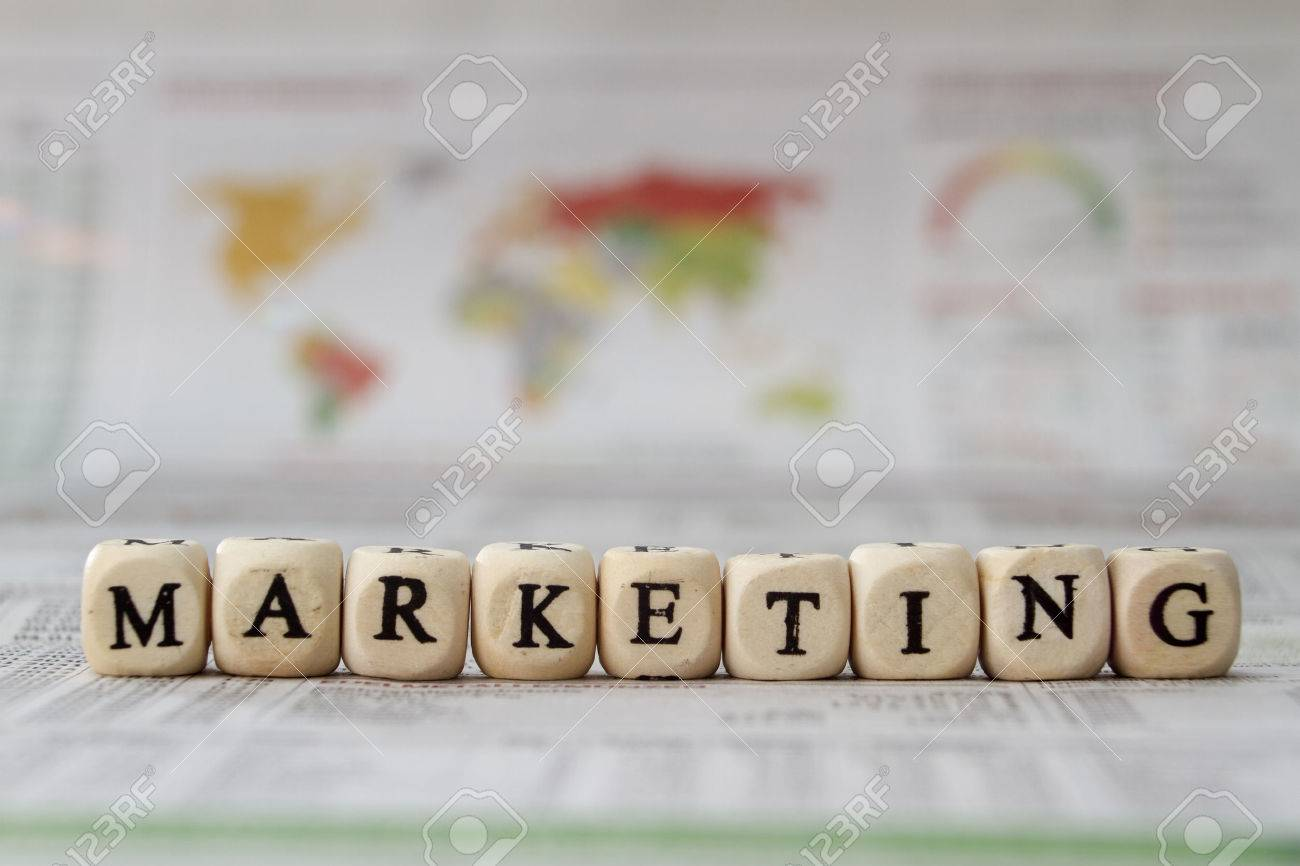 Marketing word built with letter cubes - 41200534