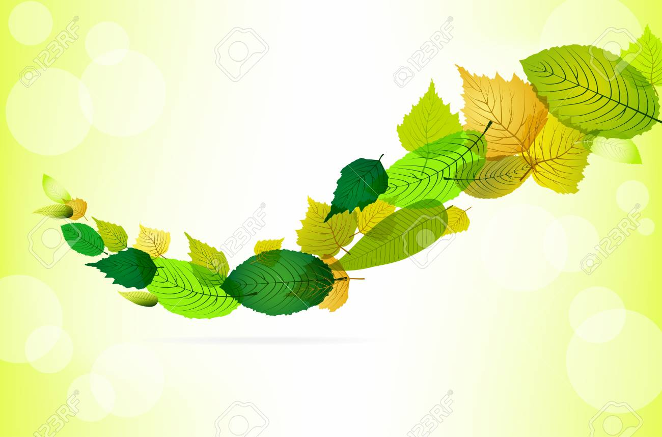 Abstract spring background with leaves and place for text Stock Vector - 12291990