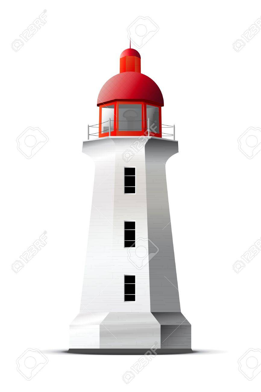 Detailed vector lighthouse isolated on white Stock Vector - 12291969
