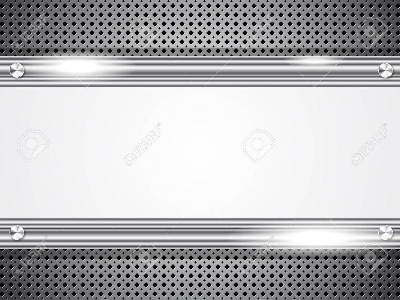 metal background with frame for your text stock vector 12292054