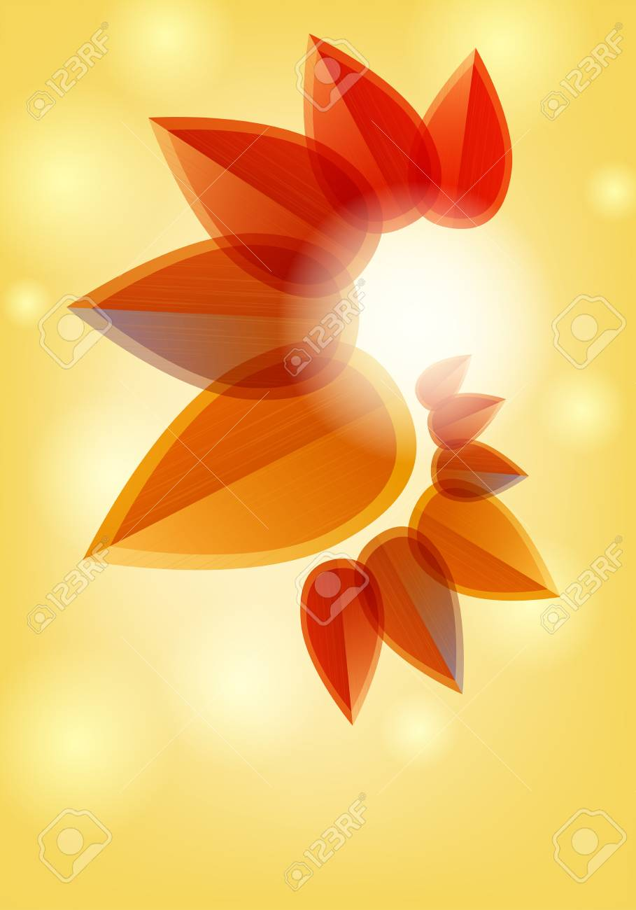 Abstract nature leaves background - autumn feeling  Place for text Stock Vector - 12487999