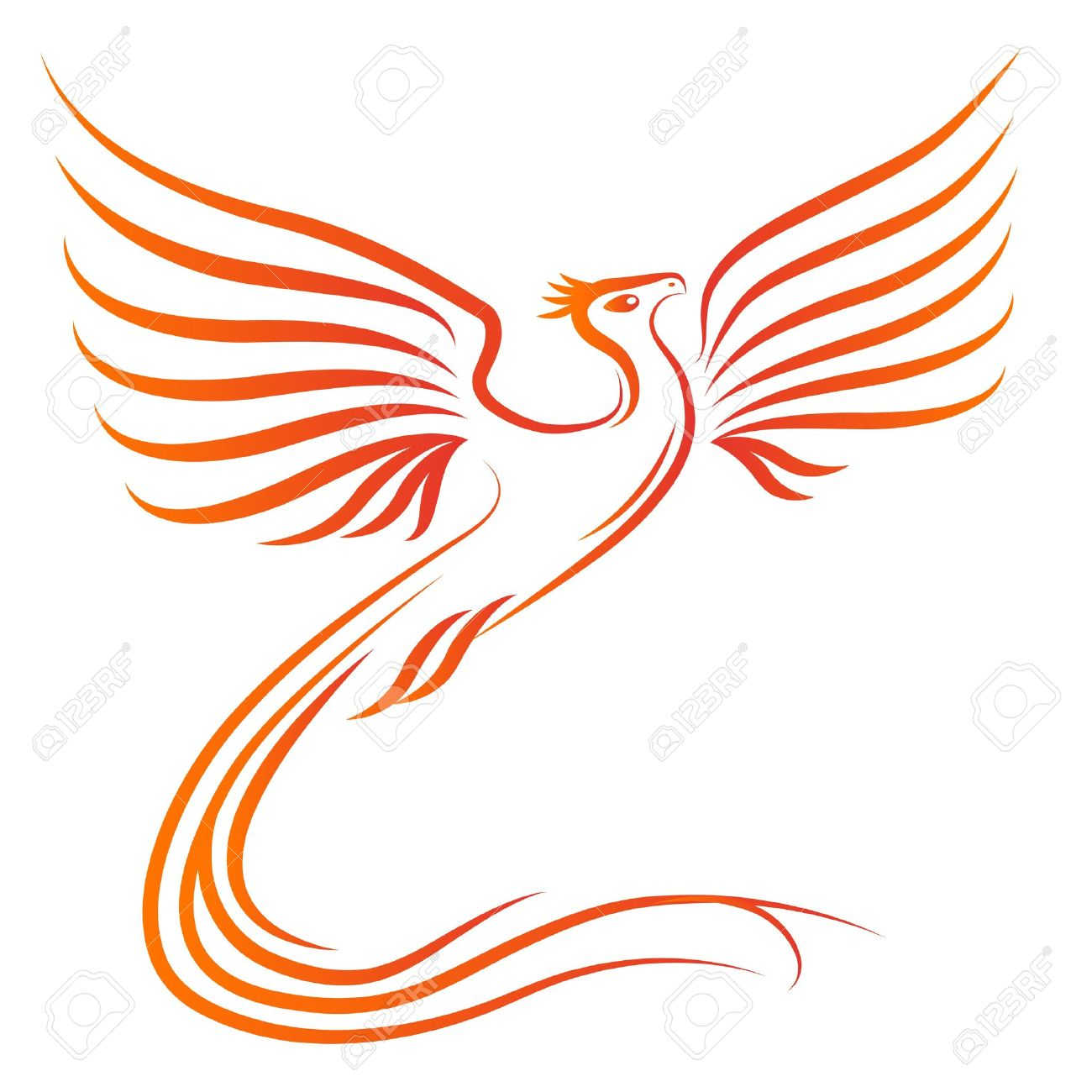 phoenix bird silhouette royalty free cliparts vectors and stock
