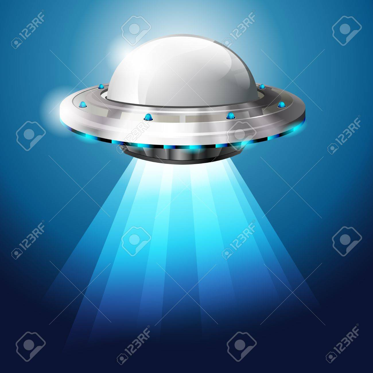 Unidentified flying object - UFO - vector file Stock Vector - 14322990