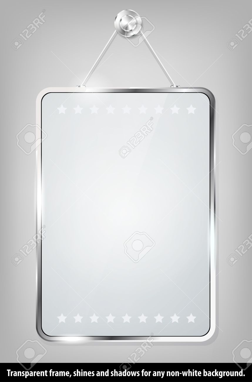 transparent glass frame for your message stock vector 16023485