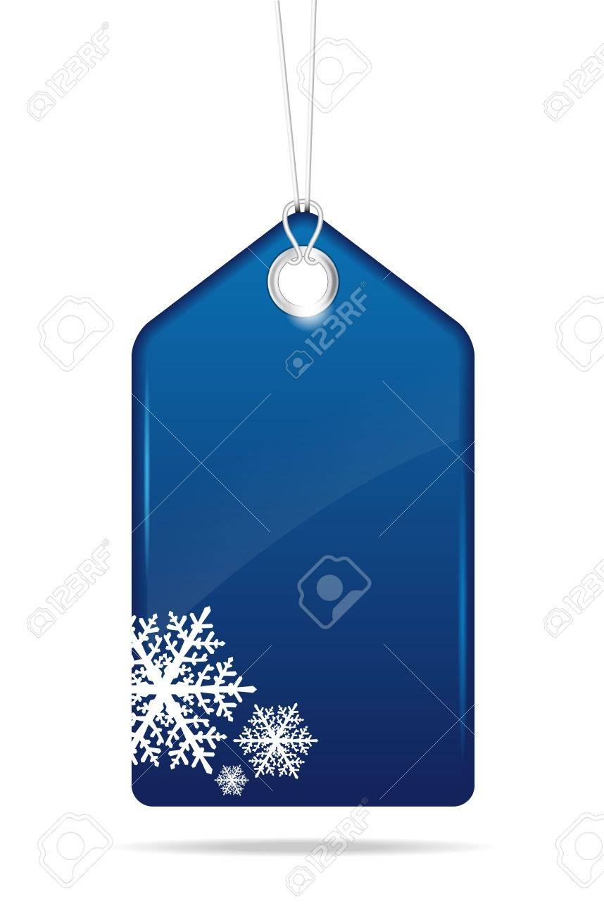 Blue christmas price tag - vector file Stock Vector - 16123002