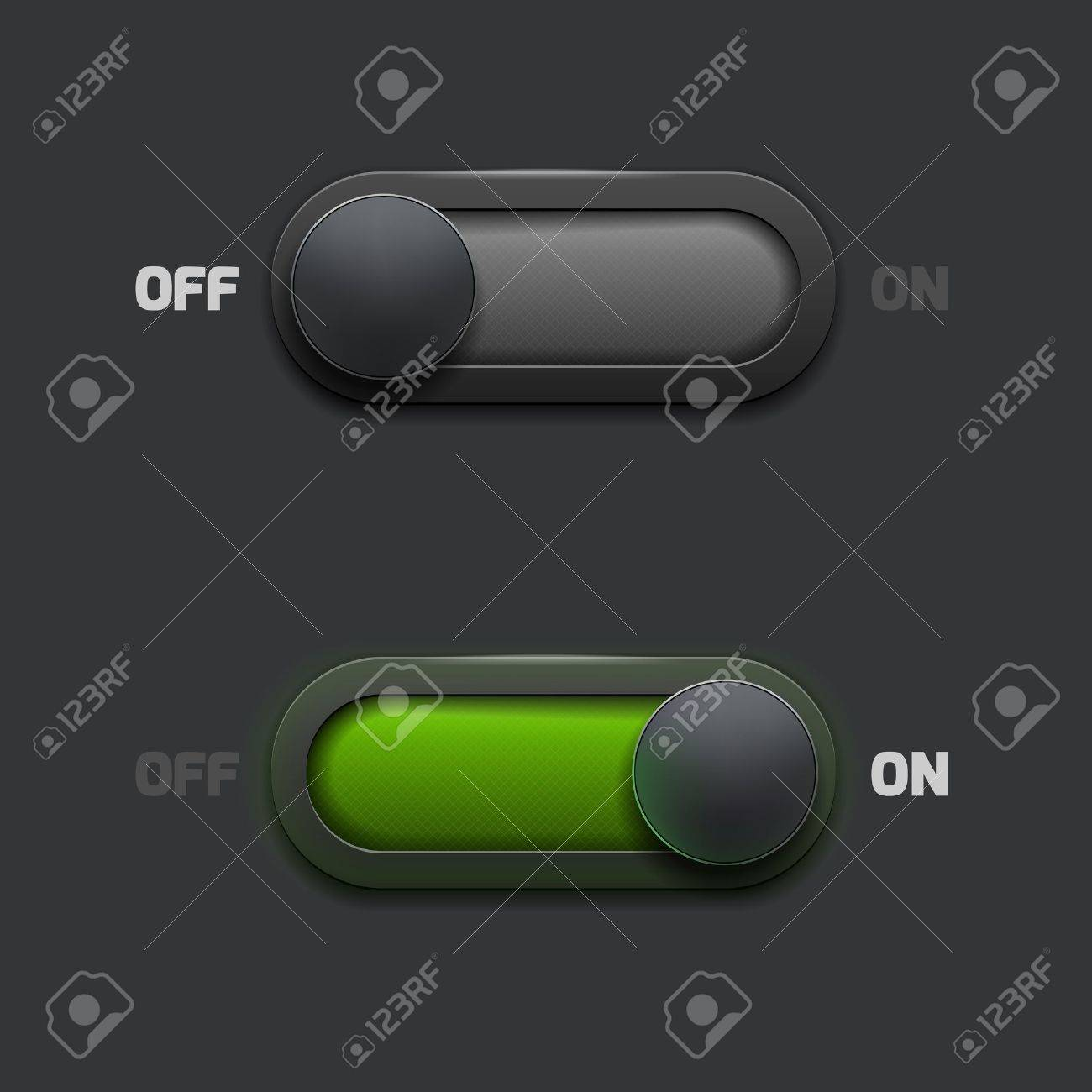 ON-OFF switch web buttons Stock Vector - 18262550