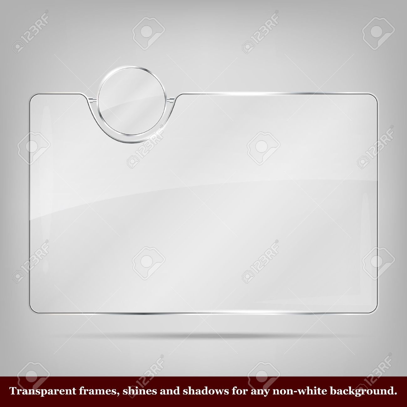 transparent vector glass frame place for icon and text stock vector 18514021