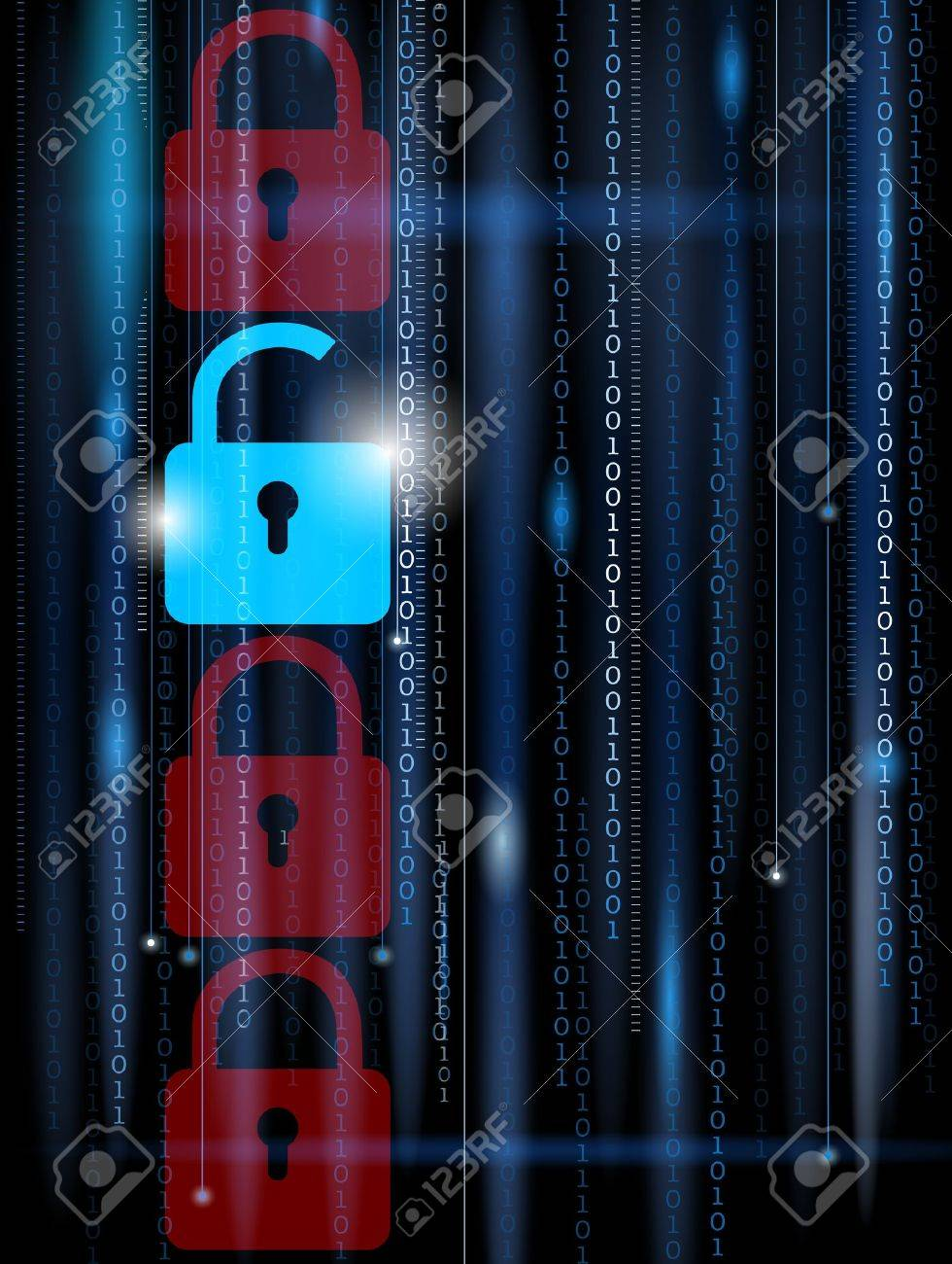 Abstract computer background - security concept Stock Vector - 19500730