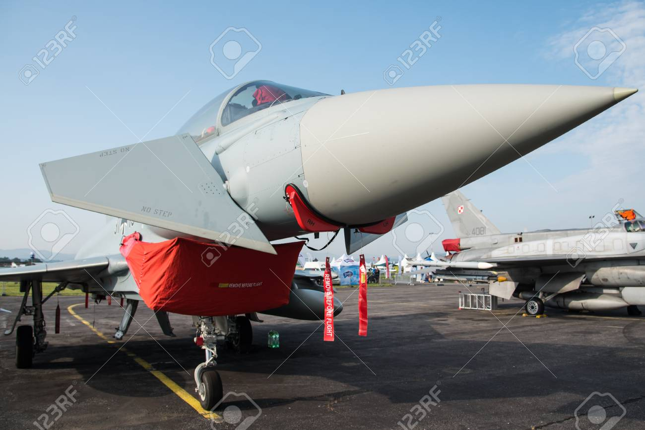 Eurofighter EF-2000 Typhoon T from German Air Force in SIAF 2017