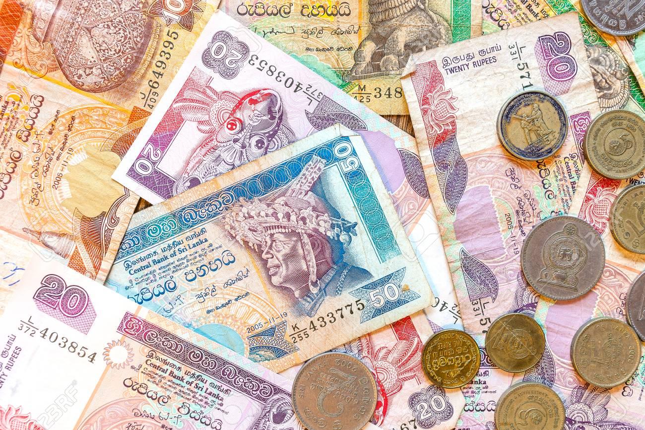 スリランカ ルピー、紙幣と硬貨のお金。 の写真素材・画像素材 Image ...