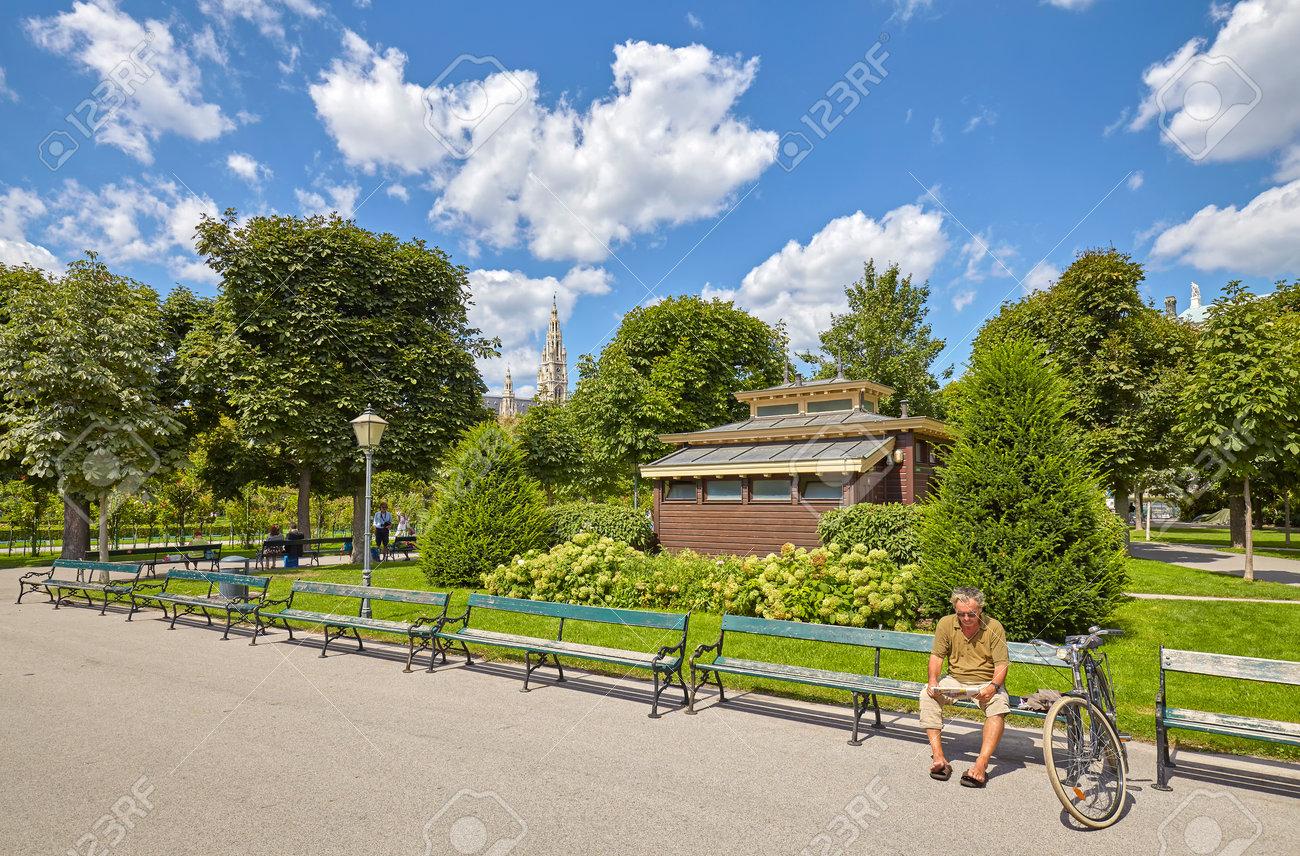 Vienna, Austria - August 14, 2016: An Unidentified Man