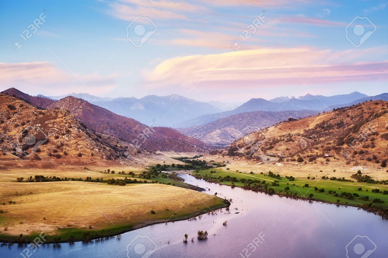 Yosemite National Park At Purple Sunset California Usa Stock Photo Picture And Royalty Free Image Image 97495948