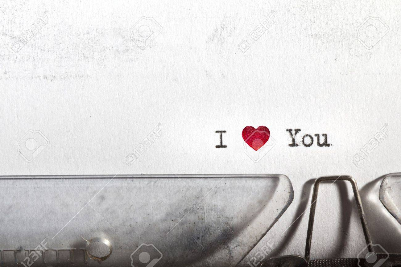 My first Love letter written on an old typewriter Stock Photo - 11916049