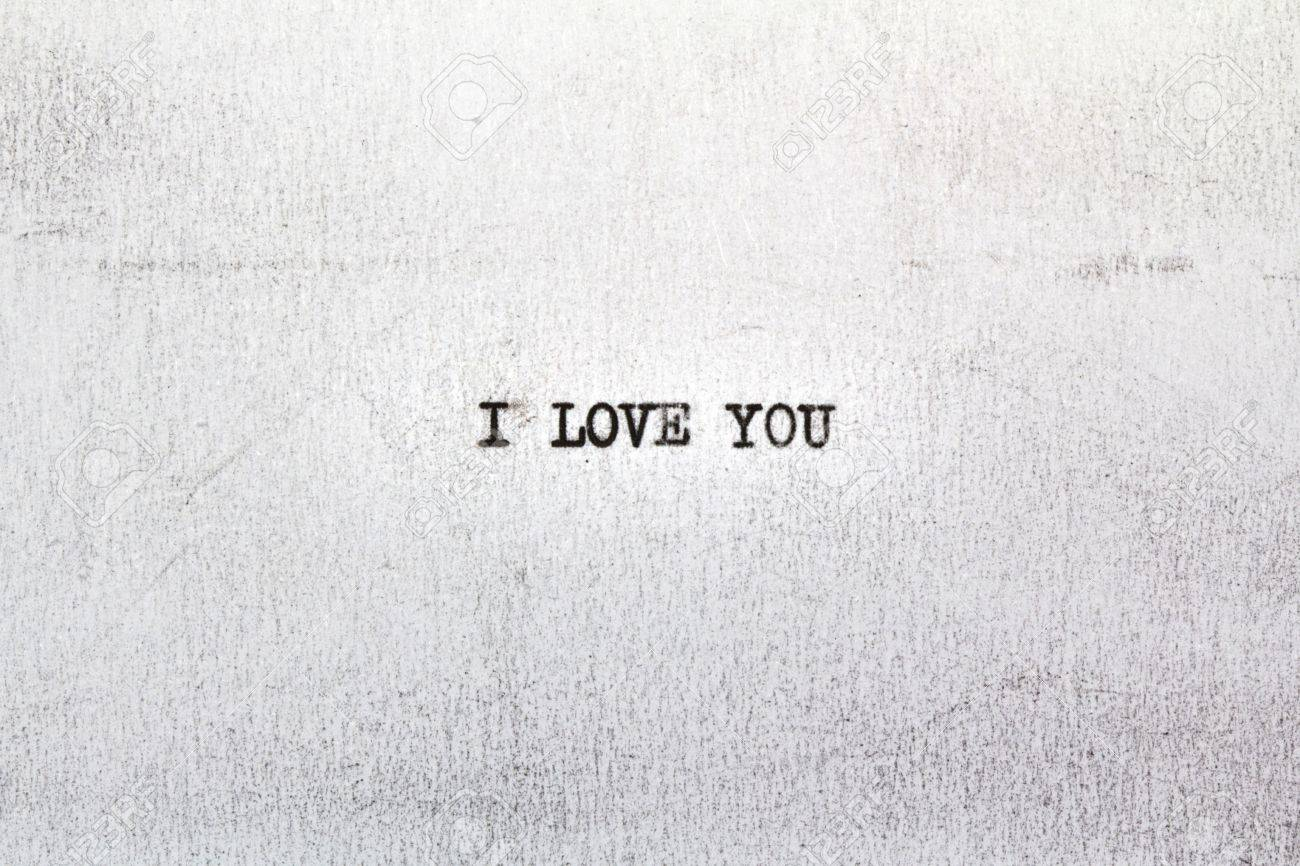 i love you on old paper written on an old typewriter stock photo i love you on old paper written on an old typewriter stock photo 11979160