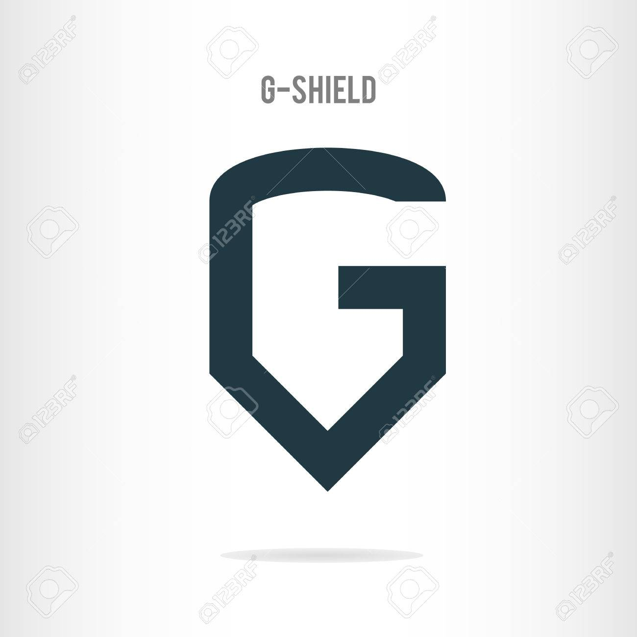 Letter G Logo Template. The Letter G In The Form Of Shield. Business ...