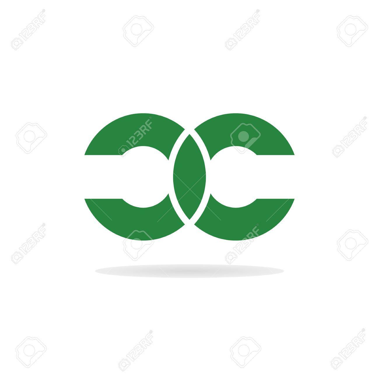 Résumé Des Lettres C Et C Logo Modèle. Double Lettre Logo C. Lettre ...